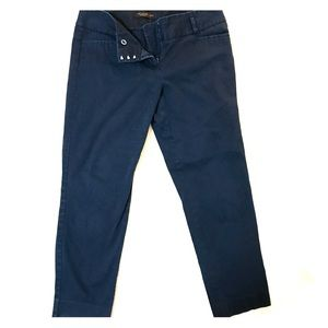 The Limited Drew Fit Cropped Navy Pants - Size 8